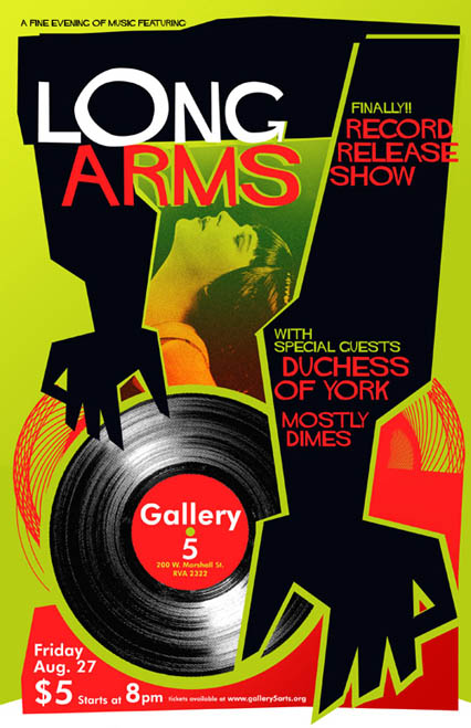 Rob Sheley - Posters - Long Arms Record Release Poster