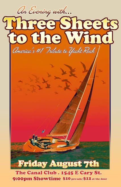 Rob Sheley - Posters - Three Sheets To the Wind Canal Club Poster