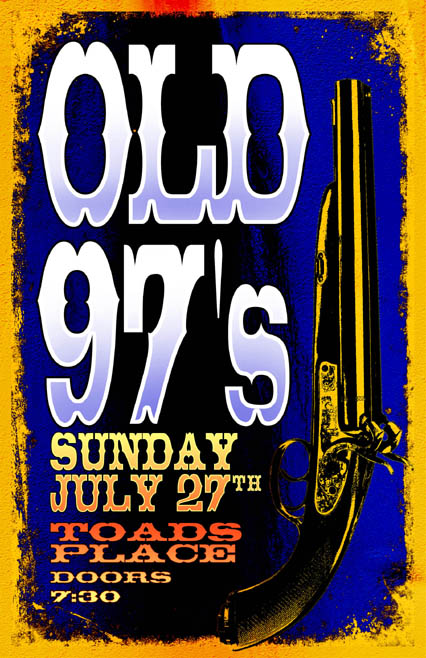 Rob Sheley - Posters - Old 97's at Toad's Place Poster